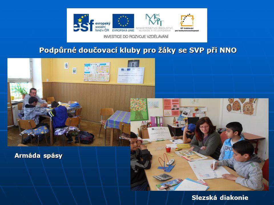 Podpůrné doučovací kluby pro žáky se SVP při NNO Armáda spásy Slezská diakonie