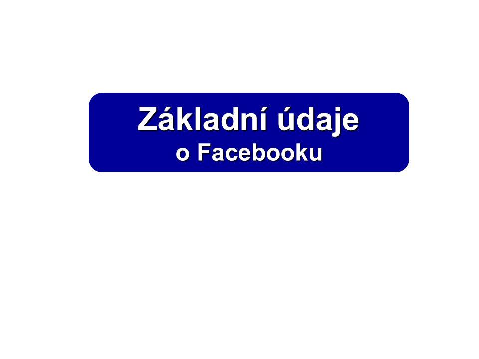 Základní údaje o Facebooku