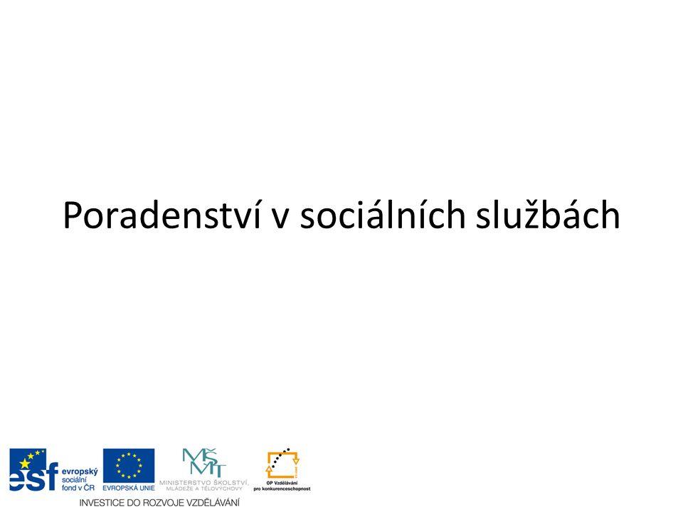 Poradenství v sociálních službách