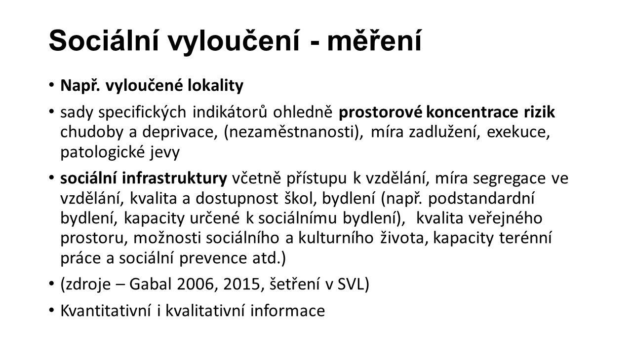 Relevance a konzistence indikátorů SV .
