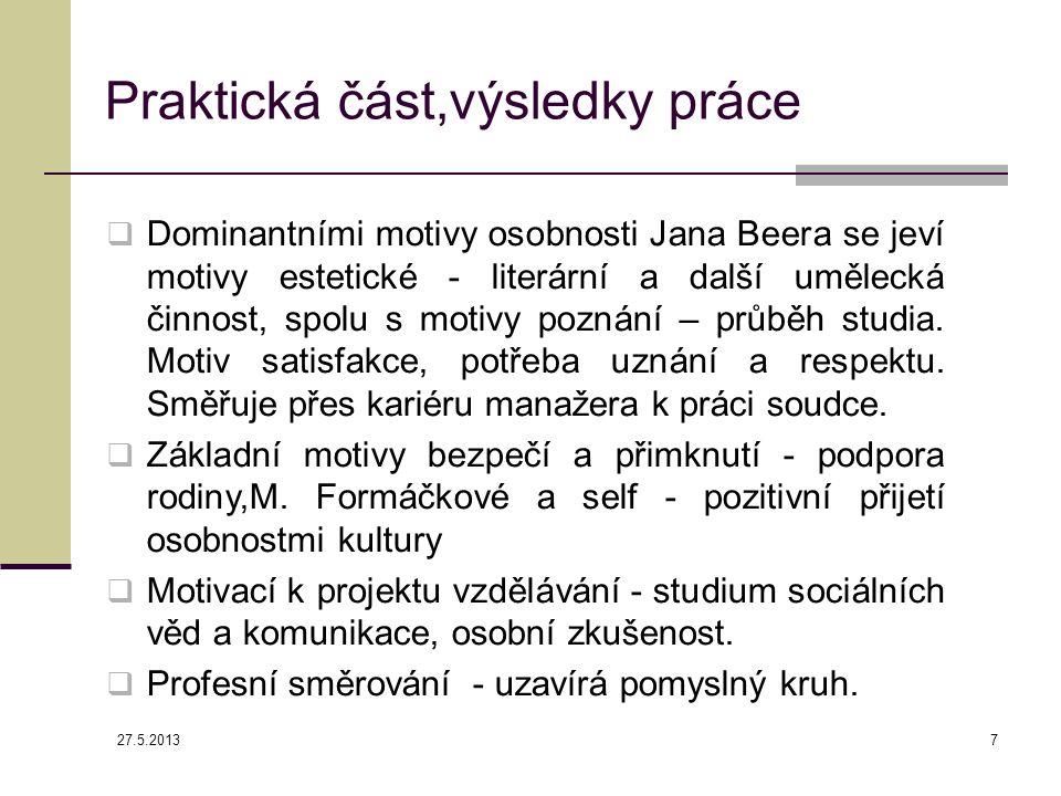 Relační mapa motivace, incentiv a charakteru interview ČT 24 27.5.2013 8