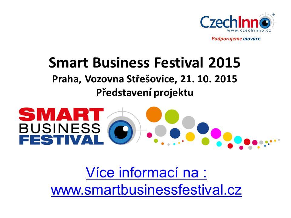 Smart Business Festival 2015 Praha, Vozovna Střešovice, 21.