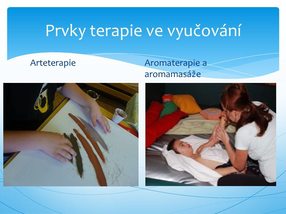 Arteterapie Aromaterapie a aromamasáže Prvky terapie ve vyučování