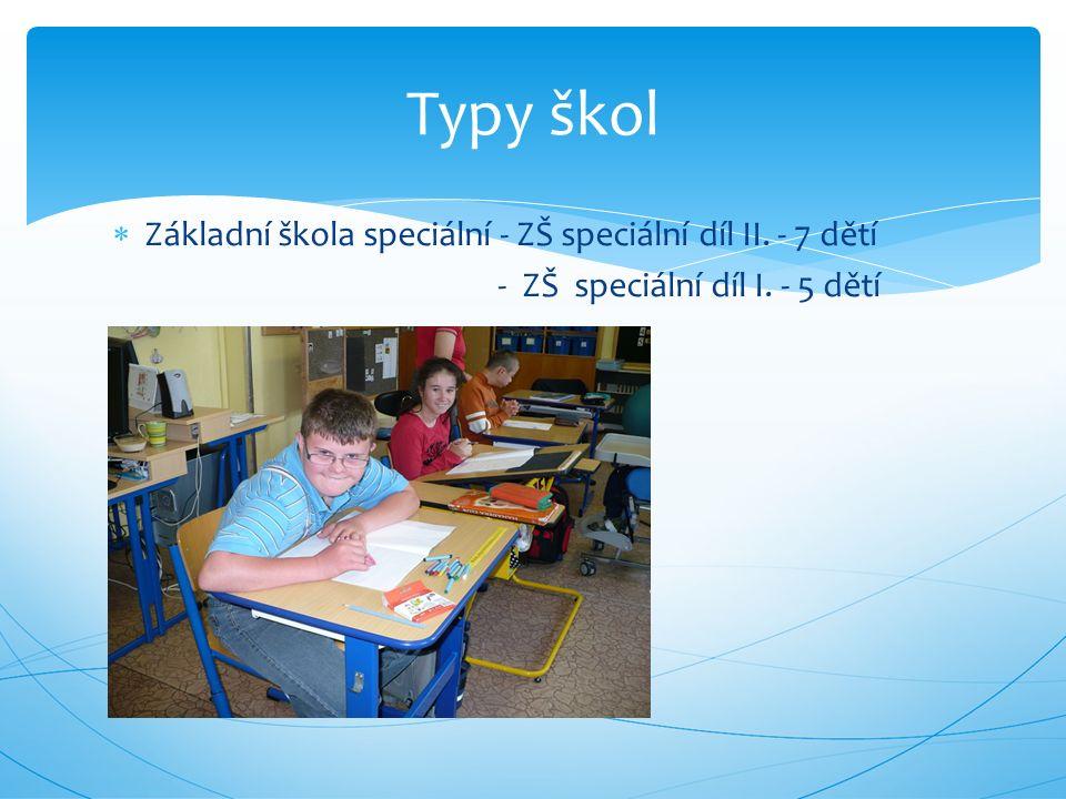  Základní škola praktická – 27 dětí Typy škol