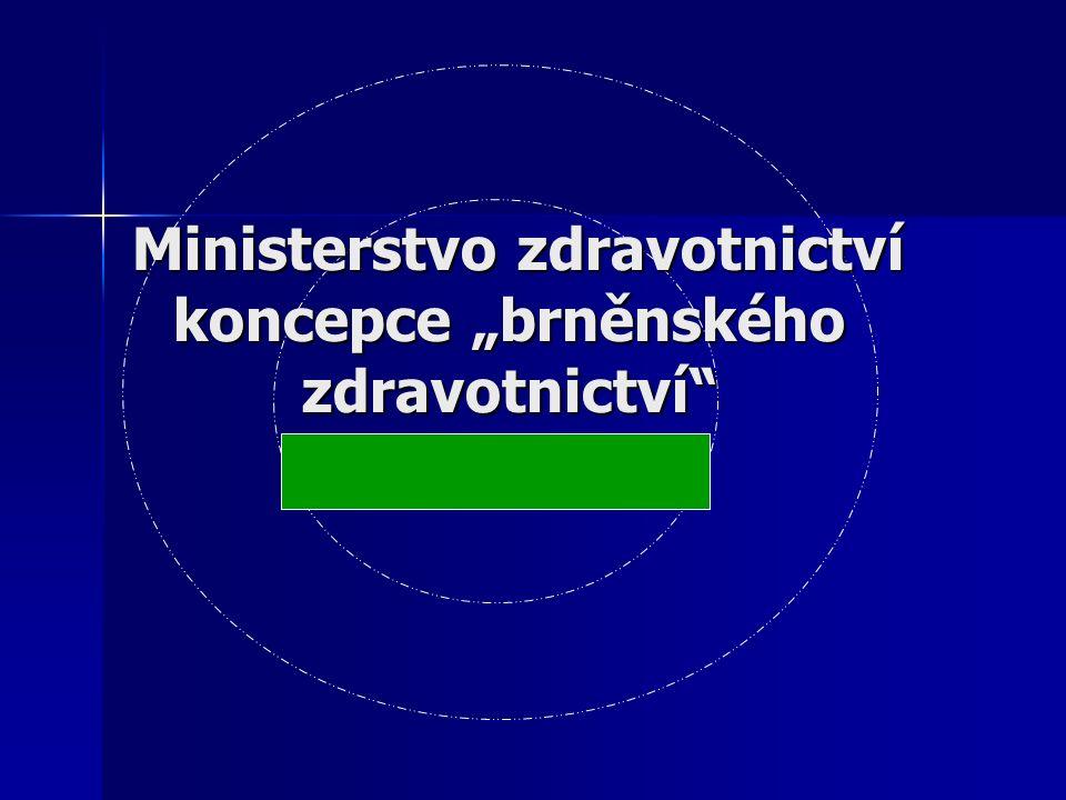 """Ministerstvo zdravotnictví koncepce """"brněnského zdravotnictví Ministerstvo zdravotnictví koncepce """"brněnského zdravotnictví"""