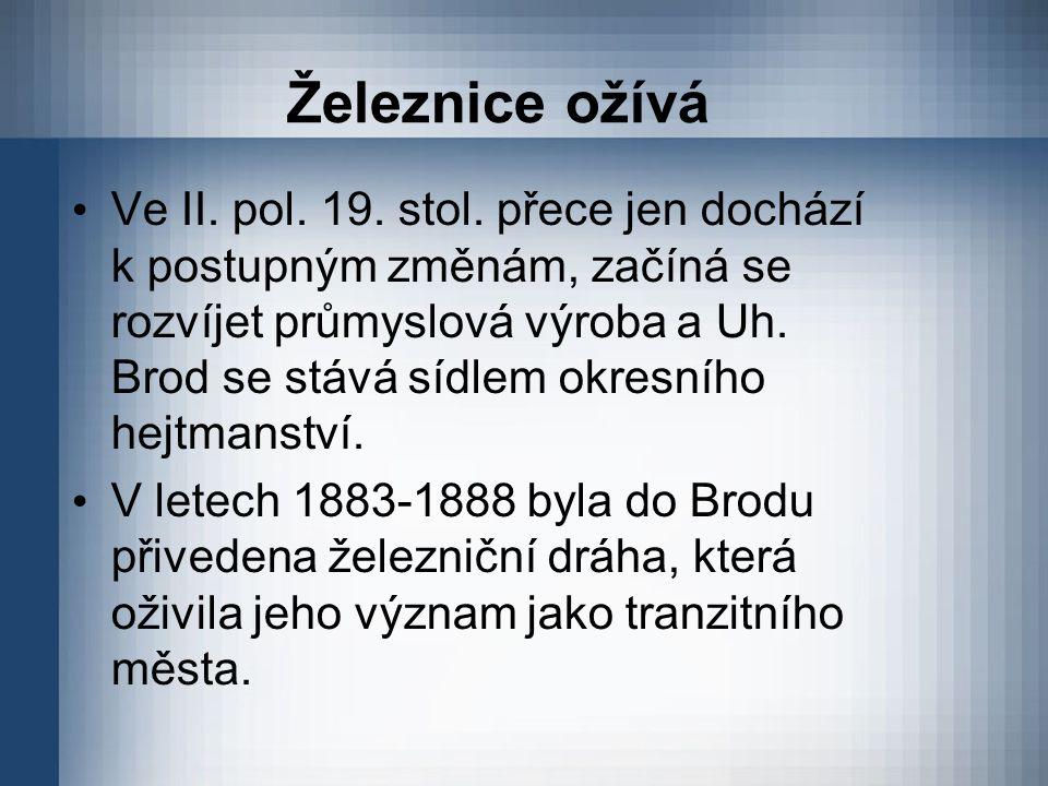 Železnice ožívá Ve II. pol. 19. stol.