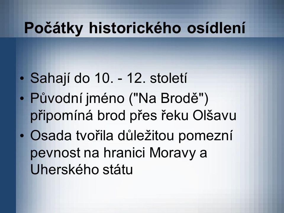 Počátky historického osídlení Sahají do 10. - 12. století Původní jméno (
