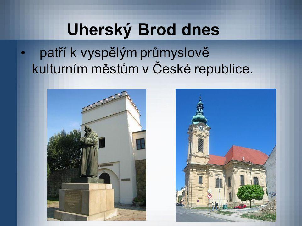 Uherský Brod dnes patří k vyspělým průmyslově kulturním městům v České republice.