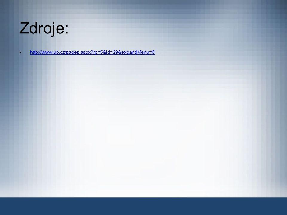 Zdroje: http://www.ub.cz/pages.aspx rp=5&id=29&expandMenu=6