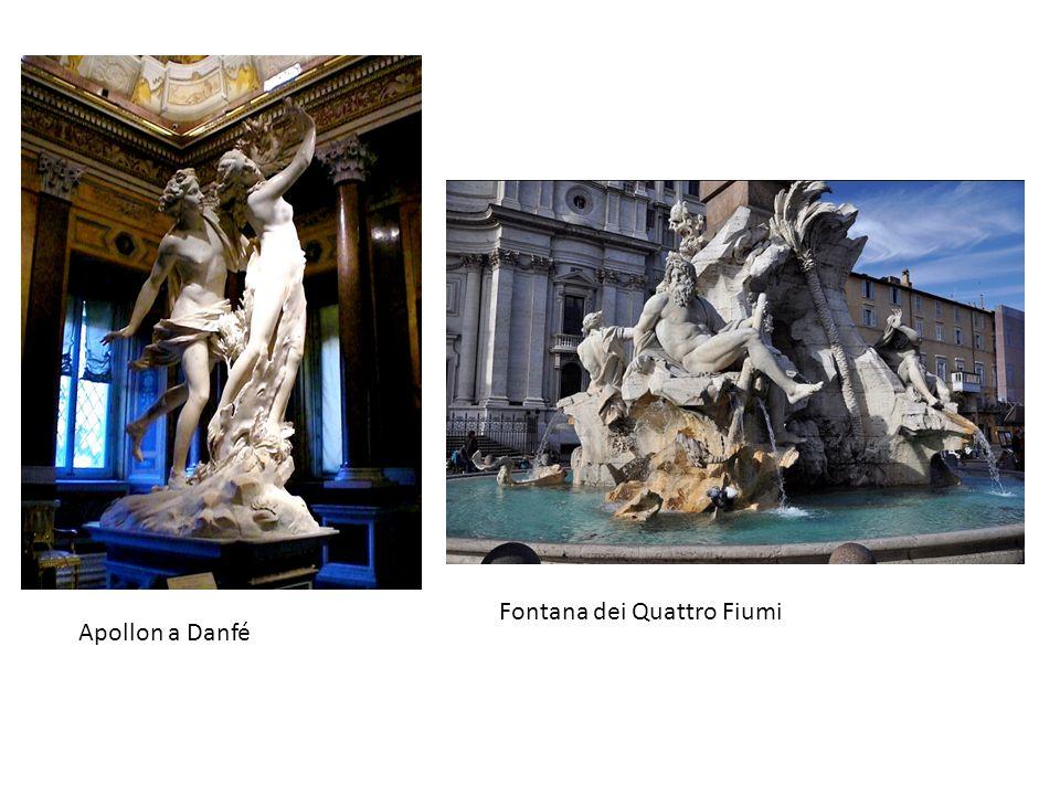 Fontana dei Quattro Fiumi Apollon a Danfé