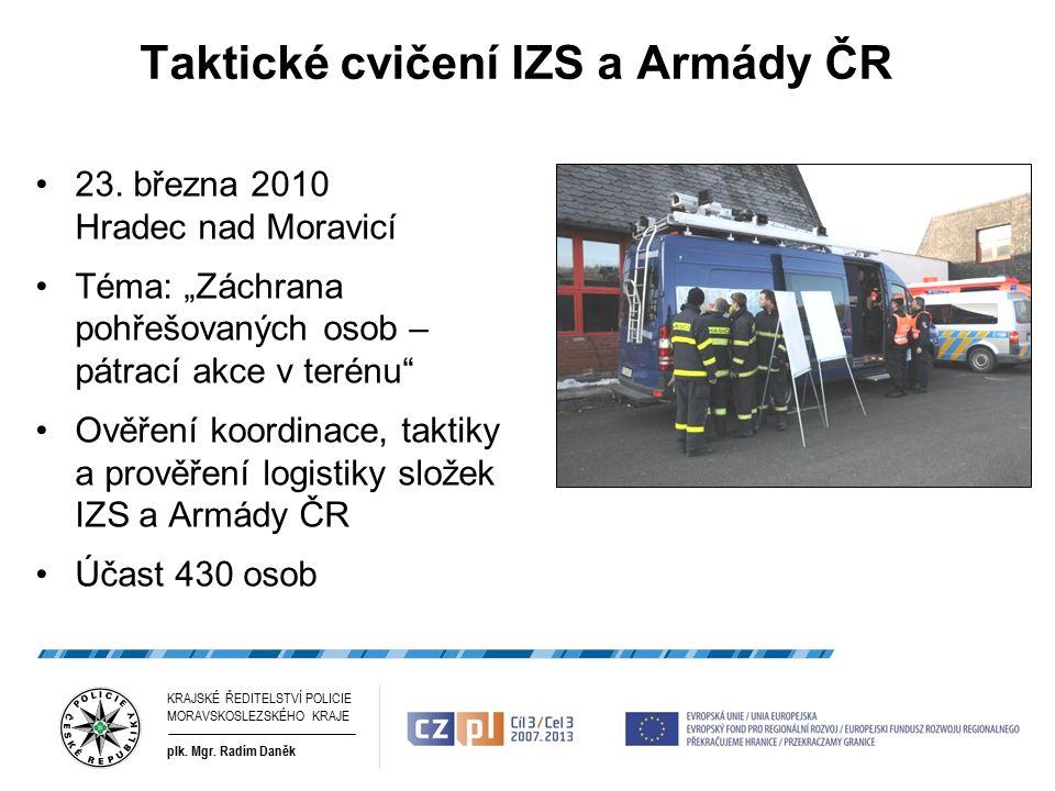 Taktické cvičení IZS a Armády ČR 23.