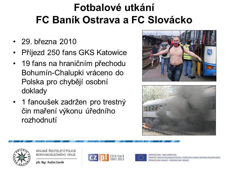 Fotbalové utkání FC Baník Ostrava a FC Slovácko 29.