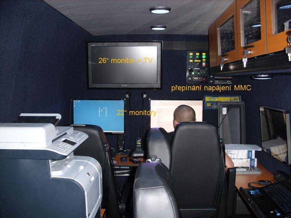 26 monitor + TV 22 monitory přepínání napájení MMC