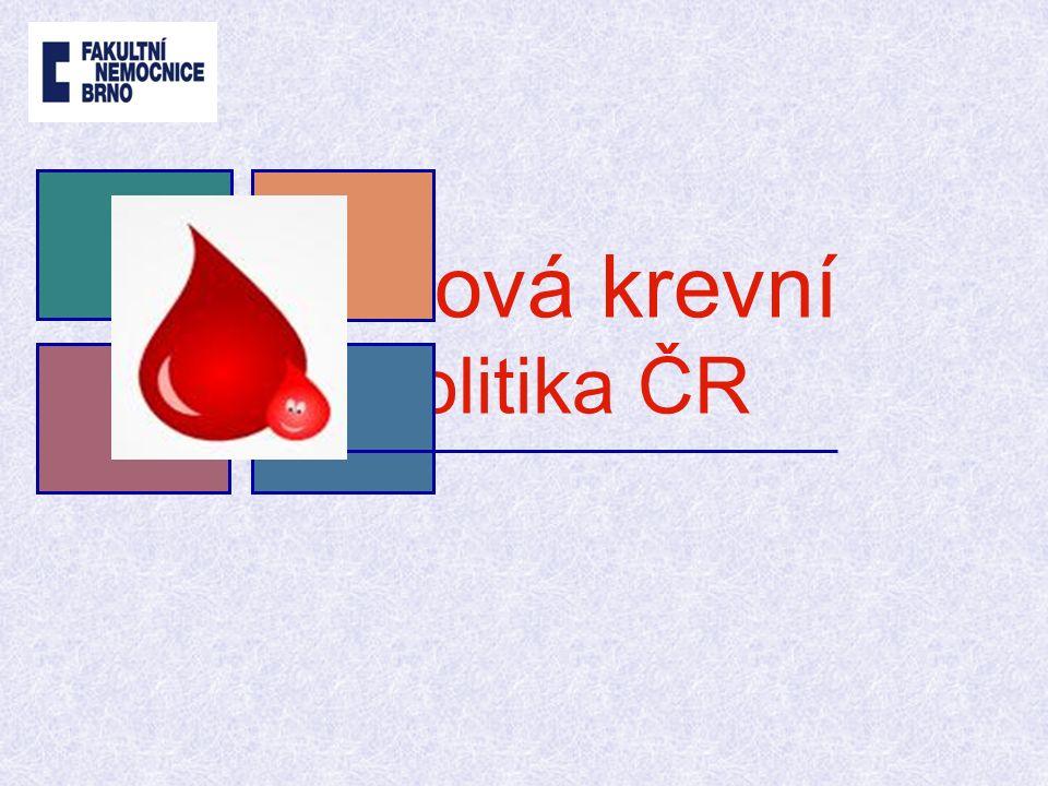 V České republice je problematika zajištění dodávek transfuzních přípravků řešena ve spolupráci resortů zdravotnictví a obrany na celostátní úrovni pro situace, kdy v jednom místě a čase nastává jejich naléhavá potřeba a zároveň potřeba jejich většího množství než činí zásoby v regionu.