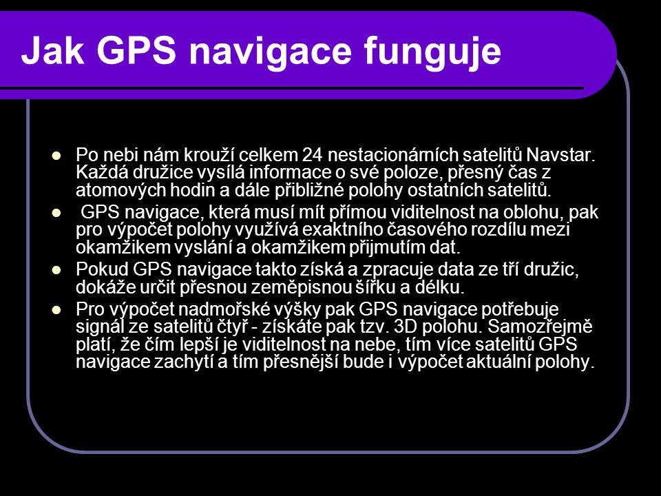 Výrobci Mezi přední světové výrobce turisttických navigací patří společnost Garmin.