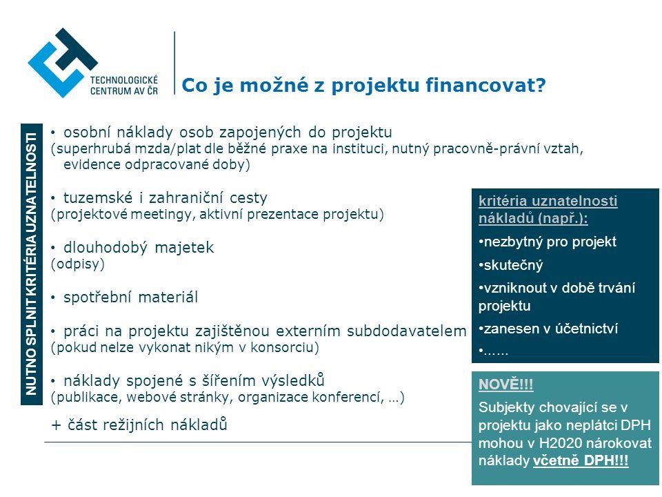 Co je možné z projektu financovat.