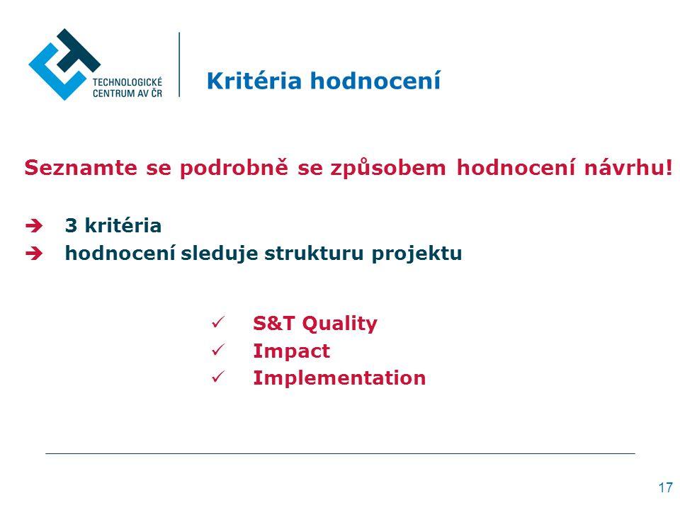 Kritéria hodnocení Seznamte se podrobně se způsobem hodnocení návrhu.