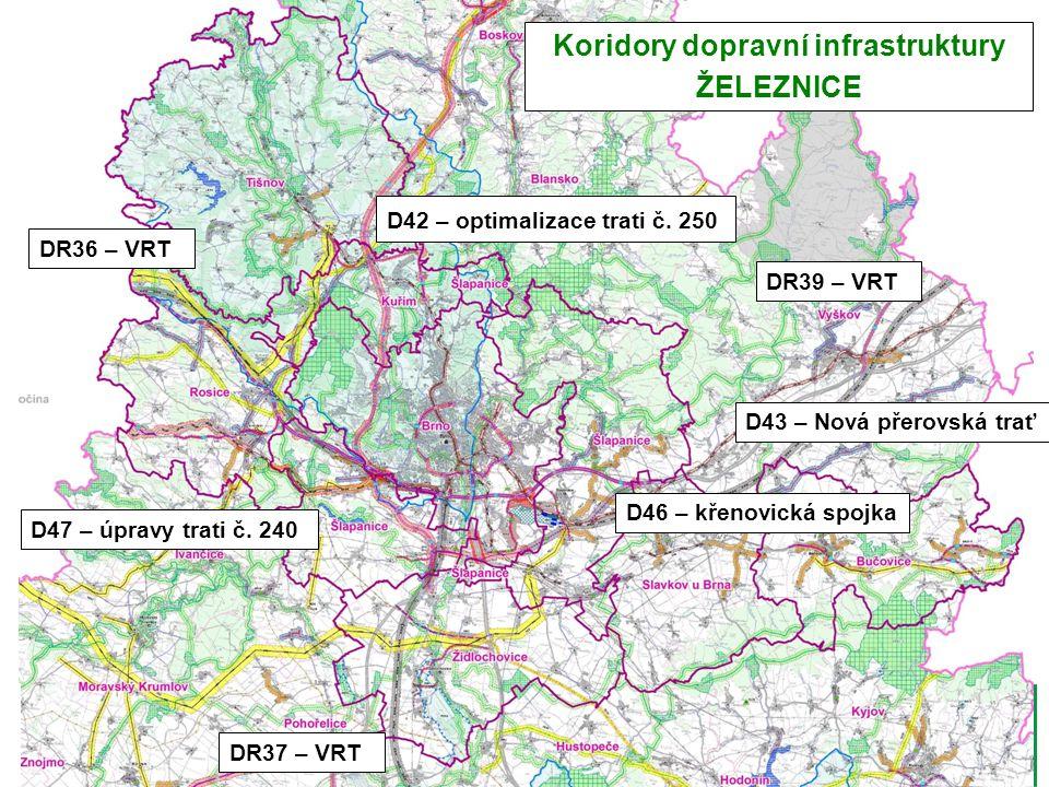 D42 – optimalizace trati č. 250 D47 – úpravy trati č.