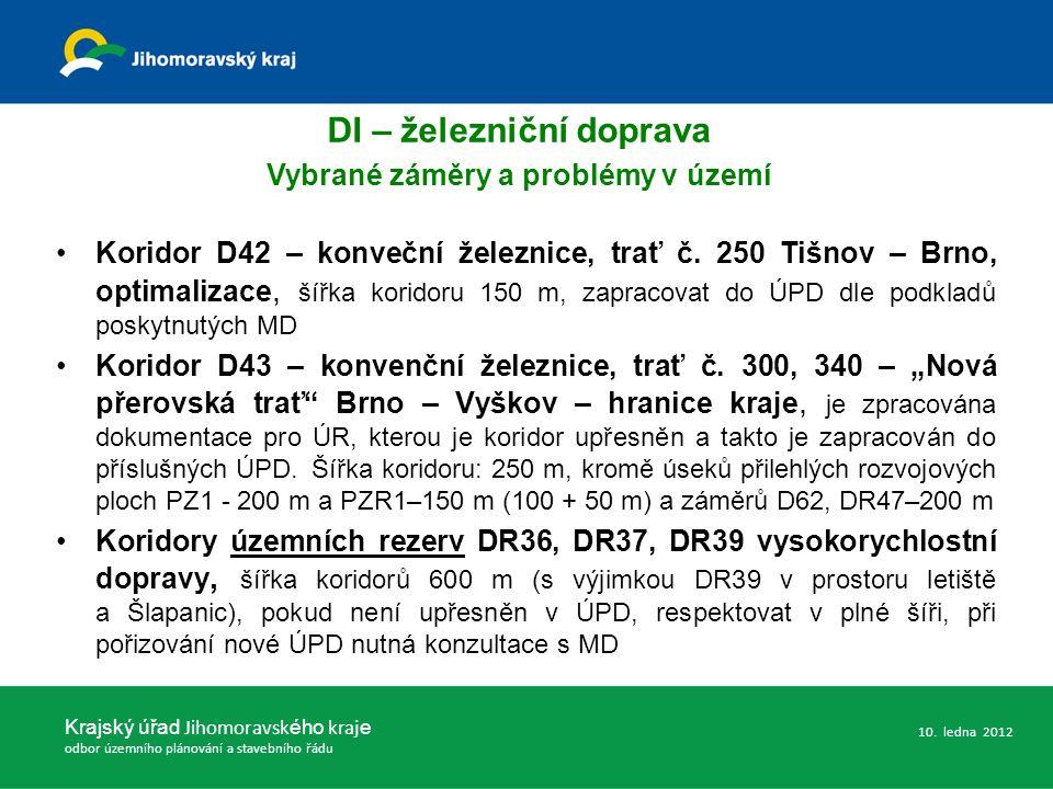 Koridor D42 – konveční železnice, trať č.