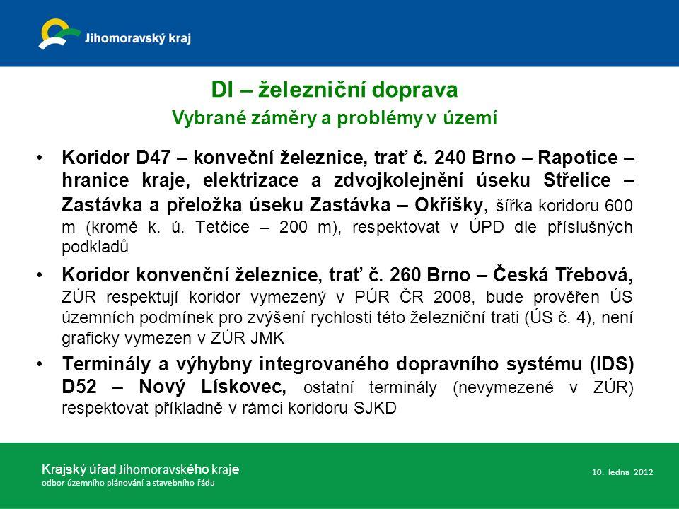 Koridor D47 – konveční železnice, trať č. 240 Brno – Rapotice – hranice kraje, elektrizace a zdvojkolejnění úseku Střelice – Zastávka a přeložka úseku