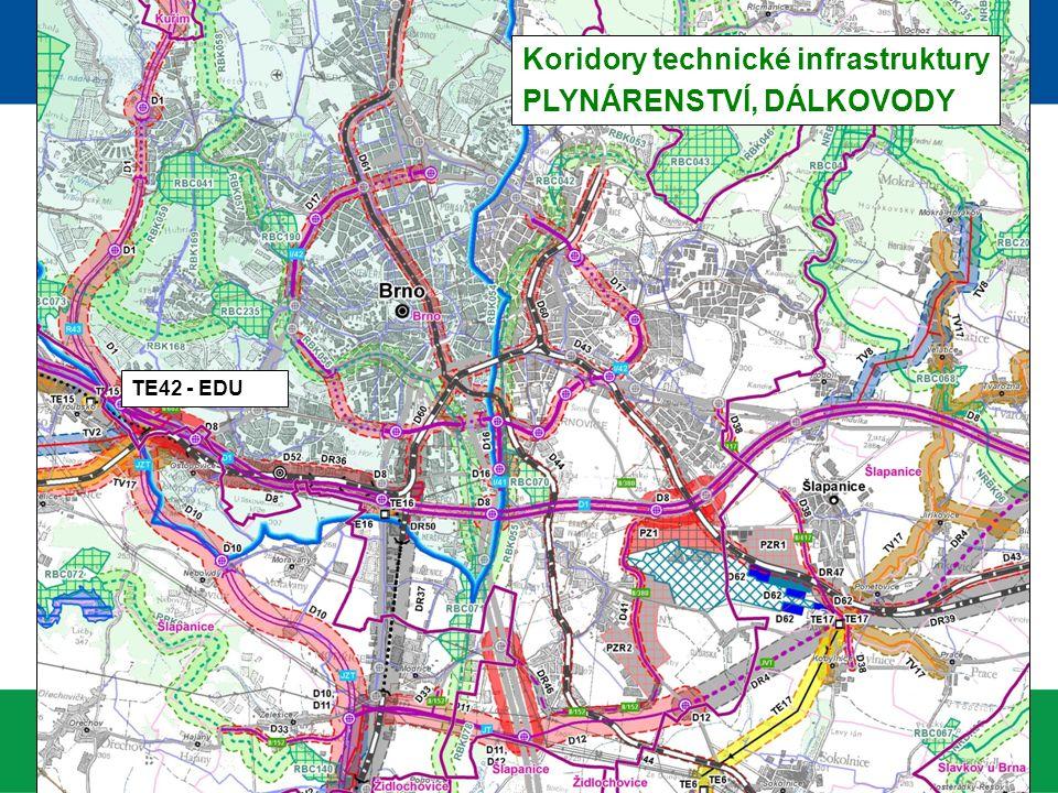 Koridory technické infrastruktury PLYNÁRENSTVÍ, DÁLKOVODY TE42 - EDU