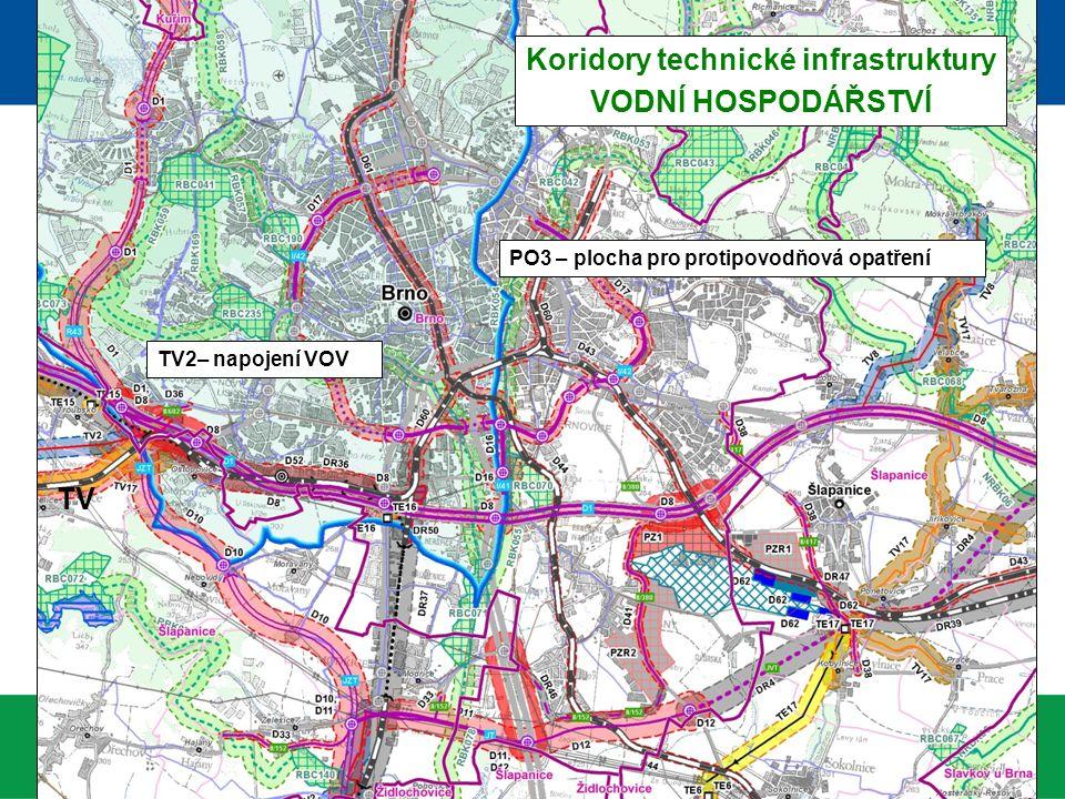Koridory technické infrastruktury VODNÍ HOSPODÁŘSTVÍ TV2– napojení VOV TV PO3 – plocha pro protipovodňová opatření
