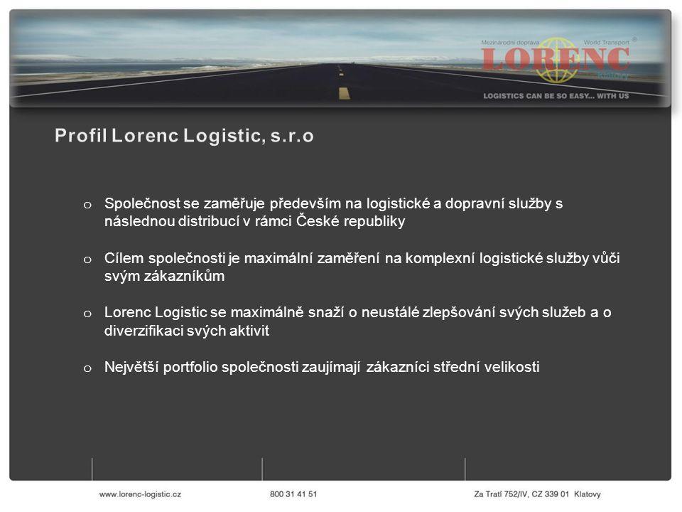 o Pro zajištění co nejlepší efektivity a kvality služeb používá společnost Lorenc Logistic IT systémy upravené na míru dle jejích potřeb: a) ERP NAVISION který je používán ve všech pobočkách Lorenc Logistic jak v České Republice, tak v Polsku b) IS PORTÁL který funguje jako intranet společnosti a zároveň je používán pro sdílení faktur a dalších důležitých dokumentů se zákazníkem o Všichni řidiči společnosti byli vybaveni chytrými telefony, s nimiž jsou schopni scanovat dokumenty (CMR, dodací listy atd.) okamžitě po nakládce/vykládce a posílat je do našeho operačního centra, kde jsou okamžitě zpracovány, což usnadňuje a zrychluje fakturační proces jak pro Lorenc Logistic, tak pro naše zákazníky