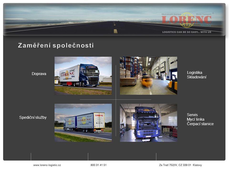 Servis Mycí linka Čerpací stanice Logistika Skladování Doprava Spediční služby
