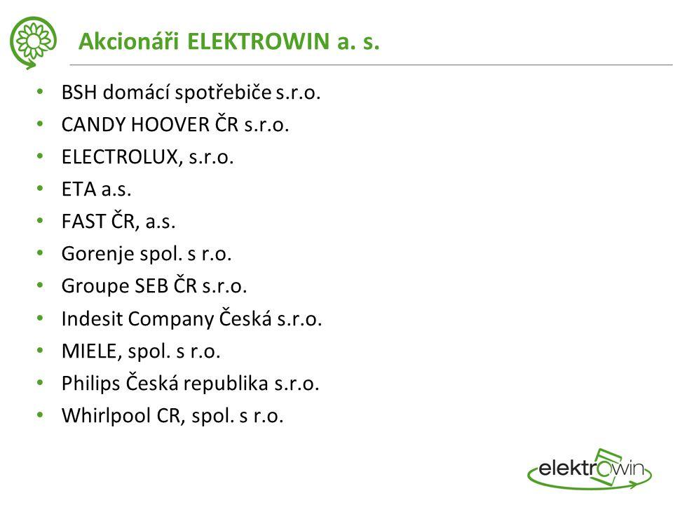 Akcionáři ELEKTROWIN a. s. BSH domácí spotřebiče s.r.o.