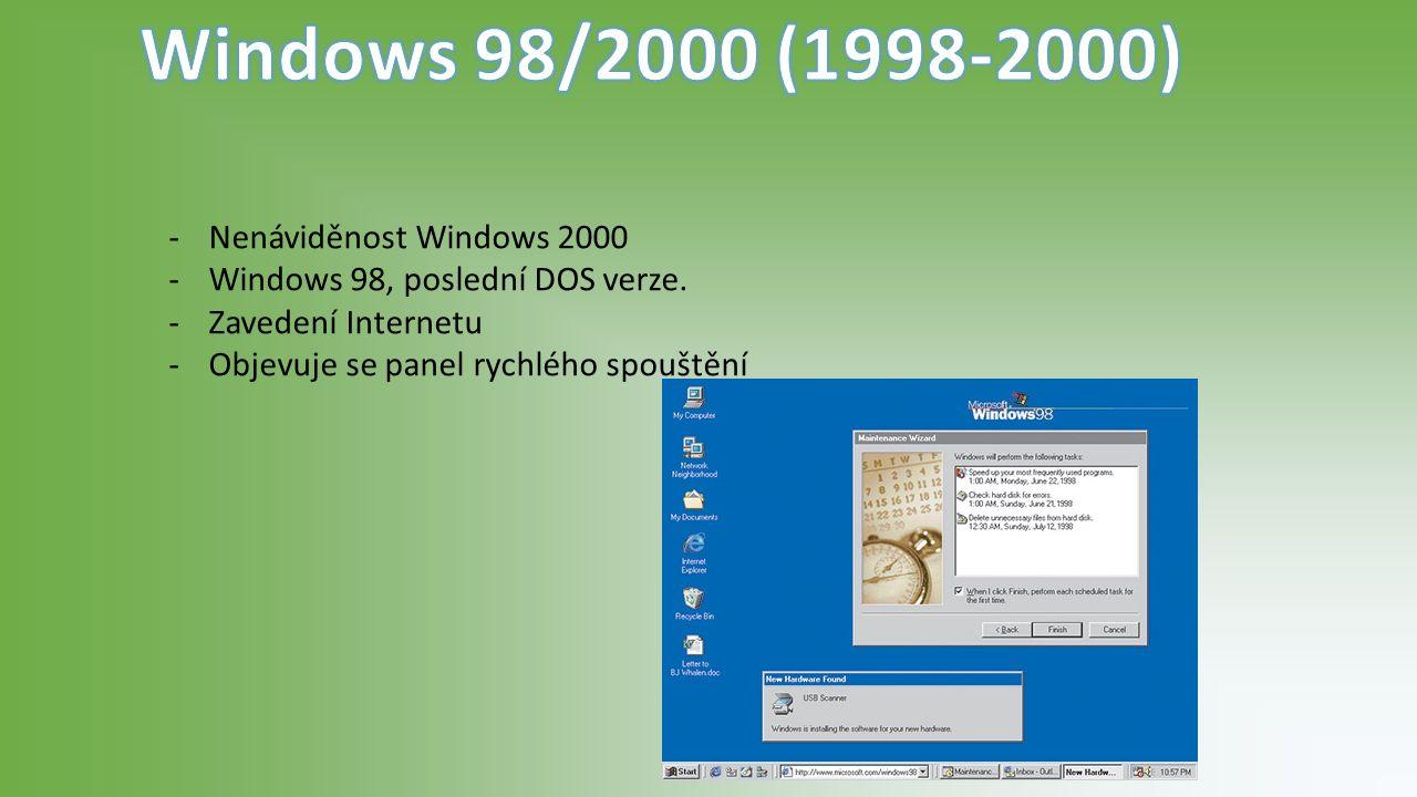 -Revoluční systém -První podpora 64bit OS, a také tablet pc.