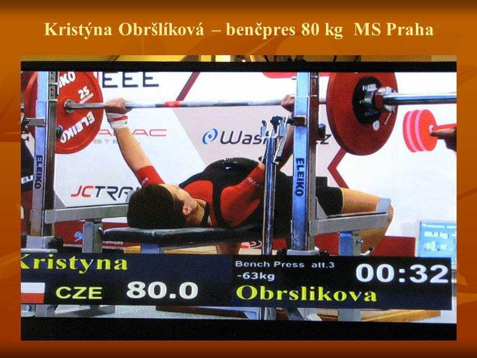 Kristýna Obršlíková – benčpres 80 kg MS Praha