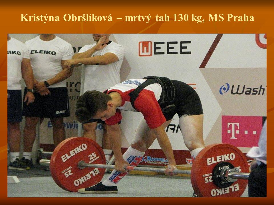Kristýna Obršlíková – mrtvý tah 130 kg, MS Praha
