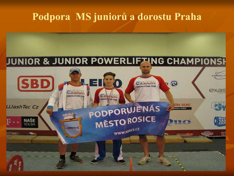 Podpora MS juniorů a dorostu Praha