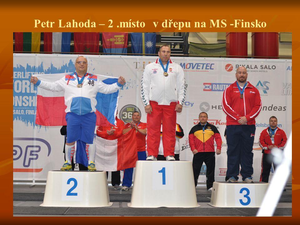 Petr Lahoda – 2.místo v dřepu na MS -Finsko