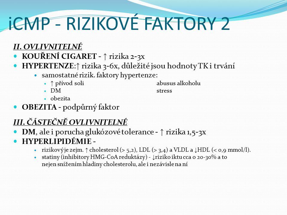 iCMP - RIZIKOVÉ FAKTORY 3 IV.