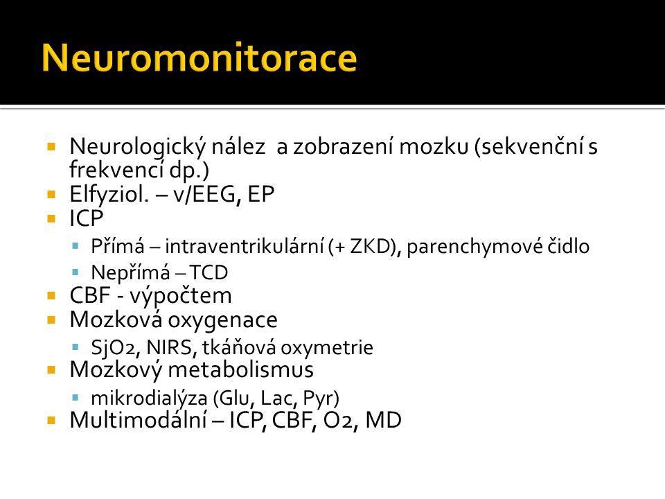  Neurologický nález a zobrazení mozku (sekvenční s frekvencí dp.)  Elfyziol.