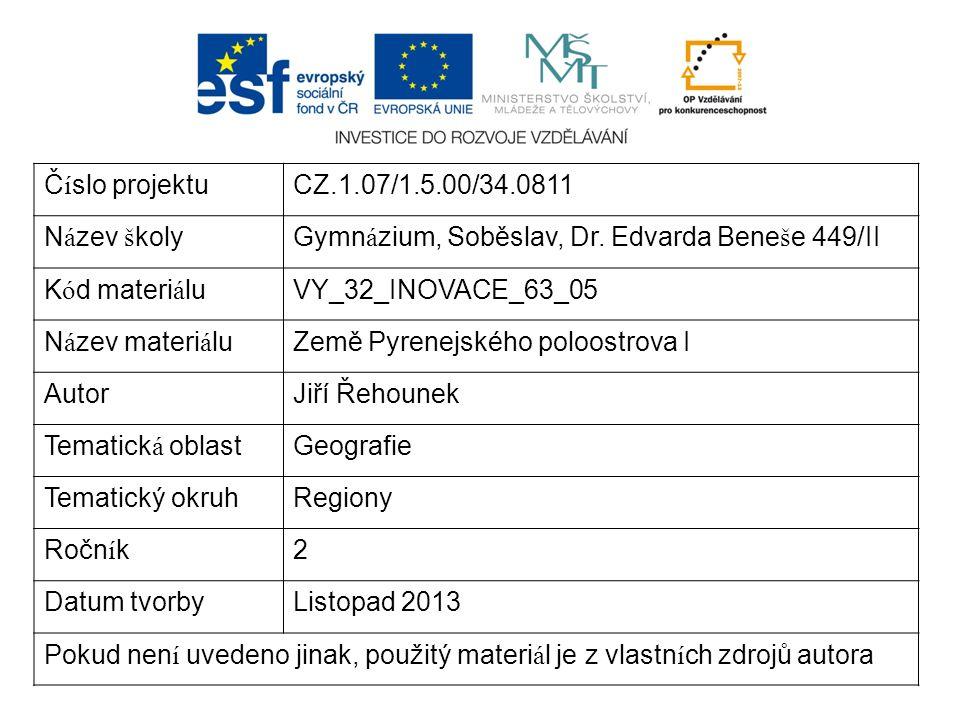Č í slo projektuCZ.1.07/1.5.00/34.0811 N á zev š kolyGymn á zium, Soběslav, Dr.