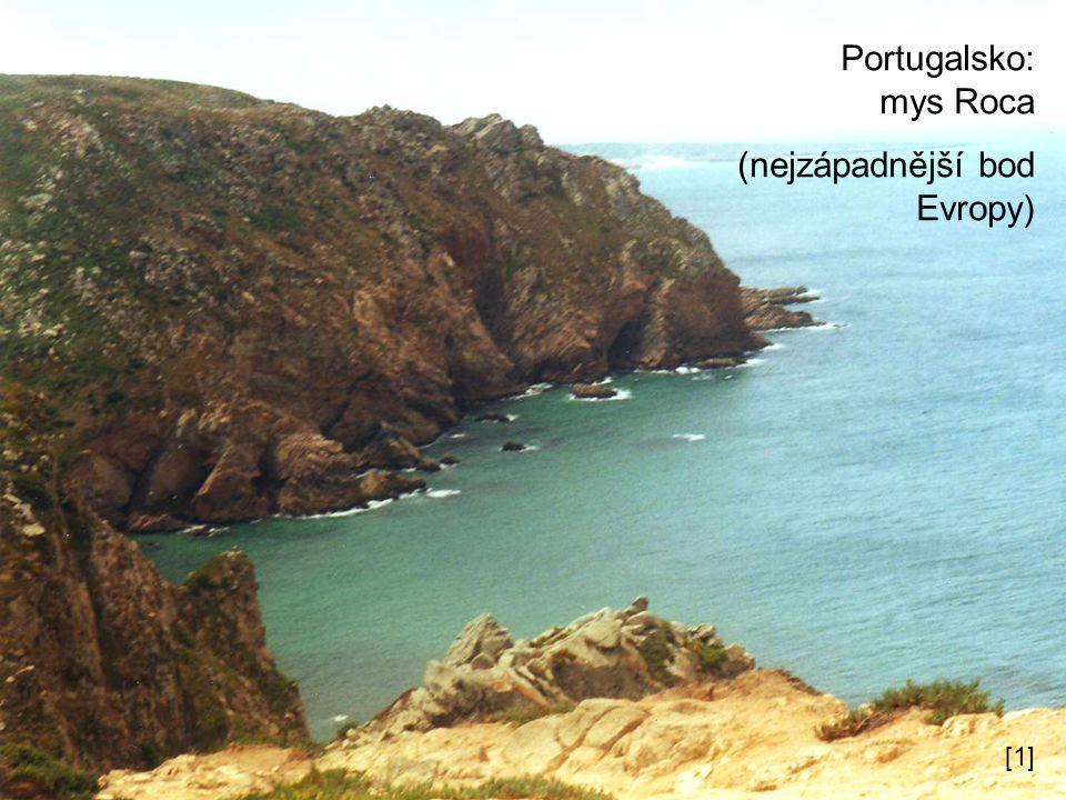 Portugalsko: mys Roca (nejzápadnější bod Evropy) [1]