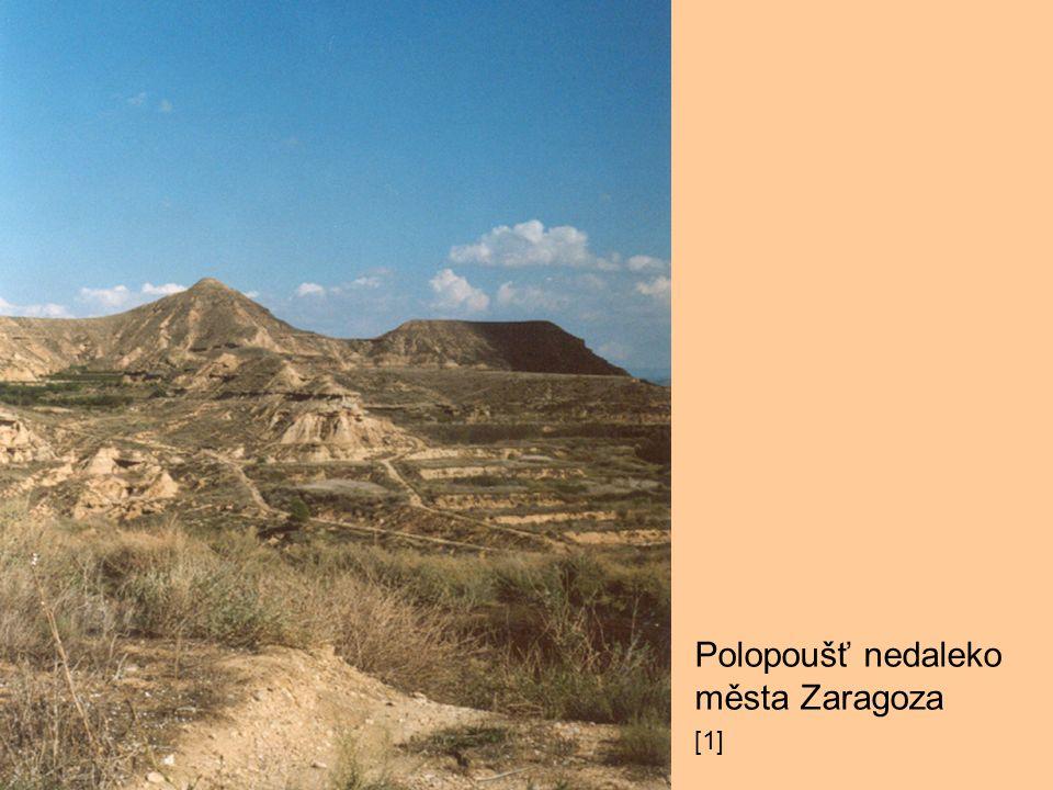 Polopoušť nedaleko města Zaragoza [1]
