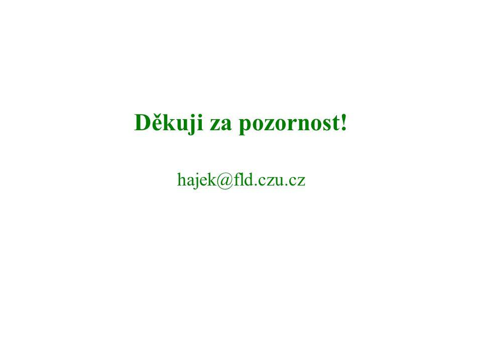 Děkuji za pozornost! hajek@fld.czu.cz