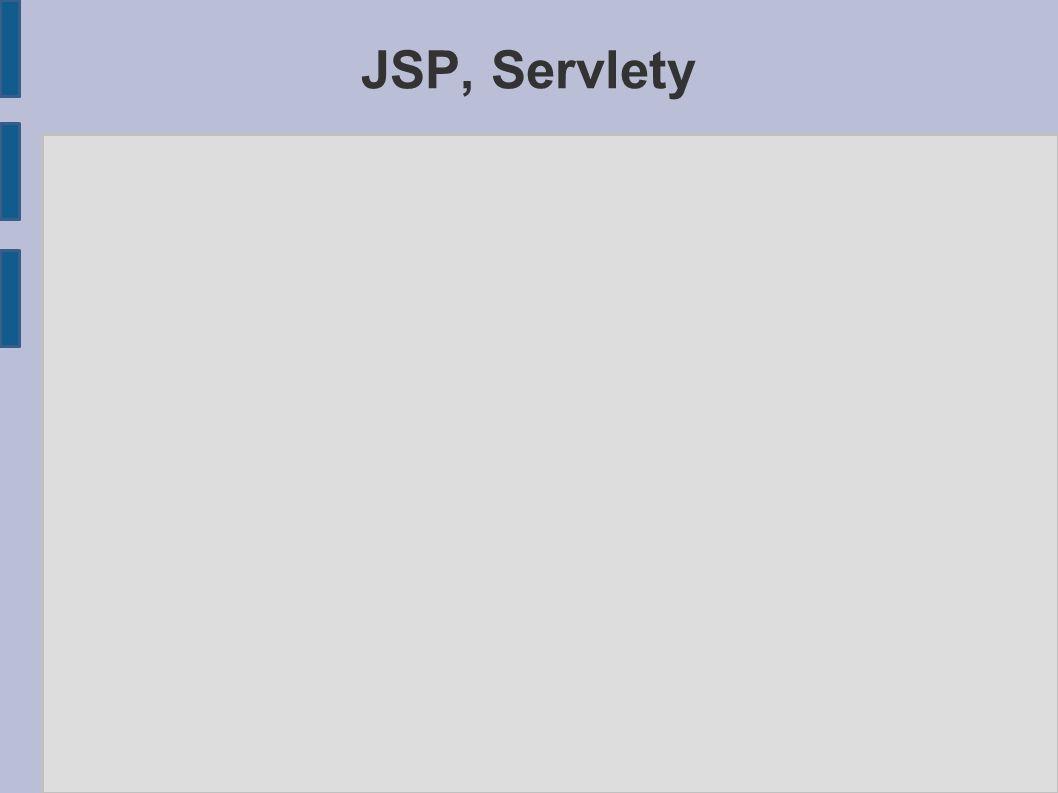 JSP, Servlety