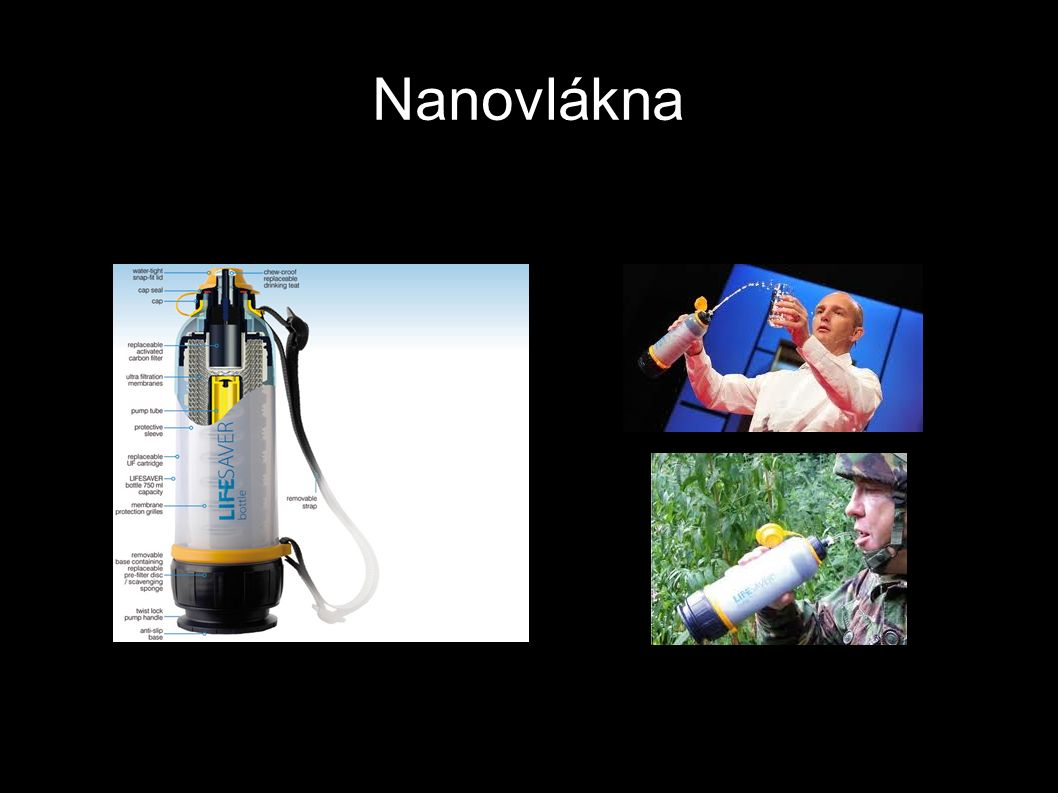 Nanovlákna http://www.ted.com/talks/lang/eng/michael_pritchard_invents_a_water_filter.html