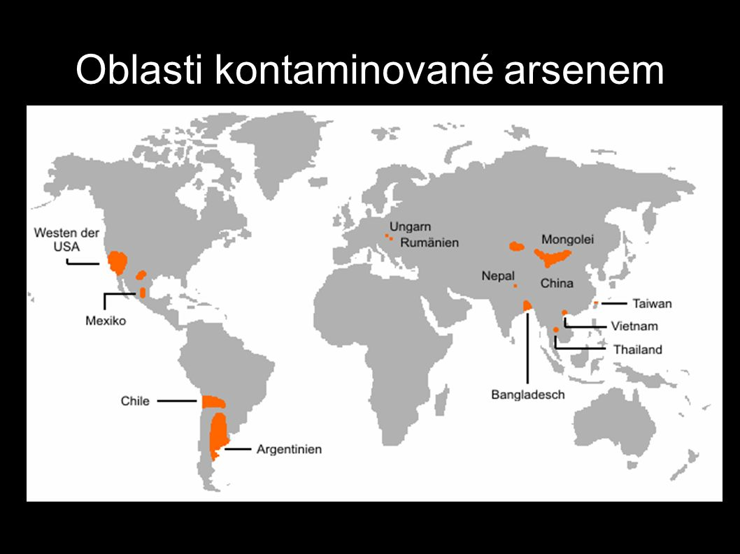 http://en.wikipedia.org/wiki/Arsenic_contamination_of_groundwate r Oblasti kontaminované arsenem