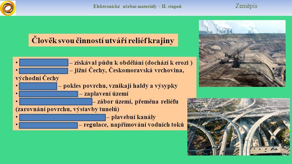 Elektronické učební materiály - II.stupeň Zeměpis Kulturní krajina Je krajina ovlivněná člověkem.