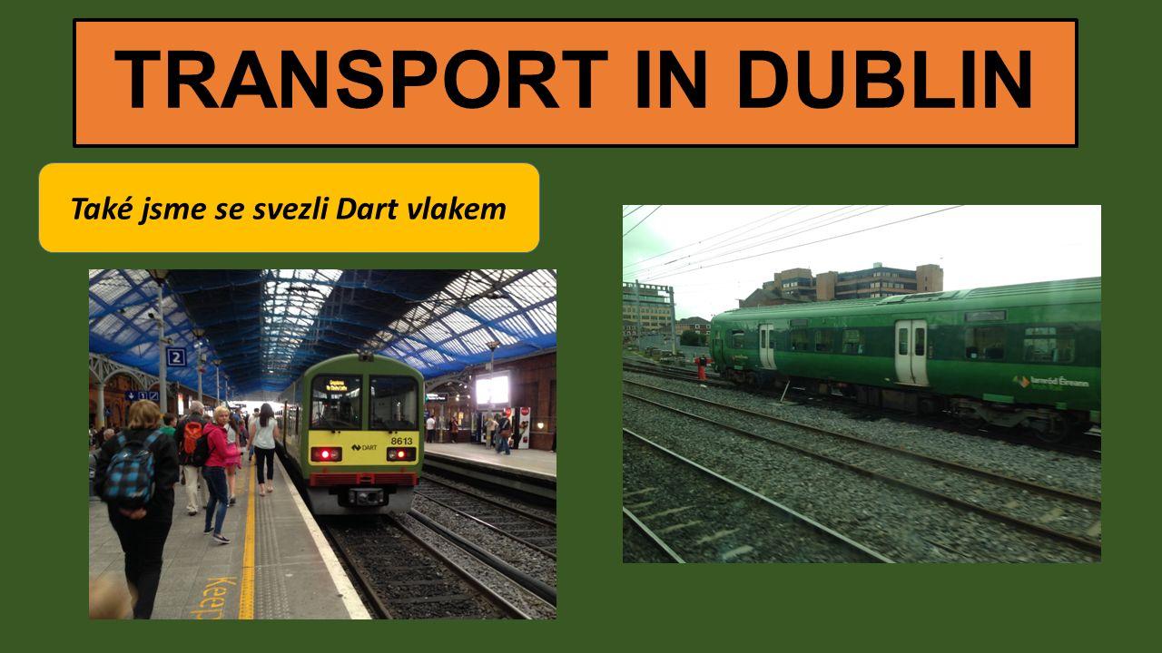 TRANSPORT IN DUBLIN Také jsme se svezli Dart vlakem