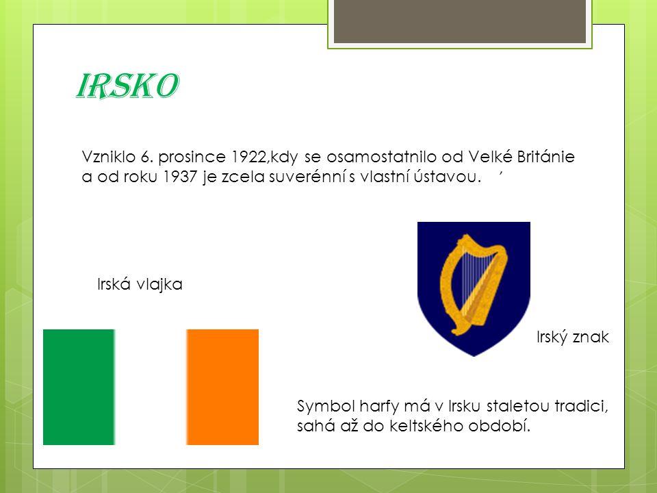 Irsko, Symbol harfy má v Irsku staletou tradici, sahá až do keltského období.