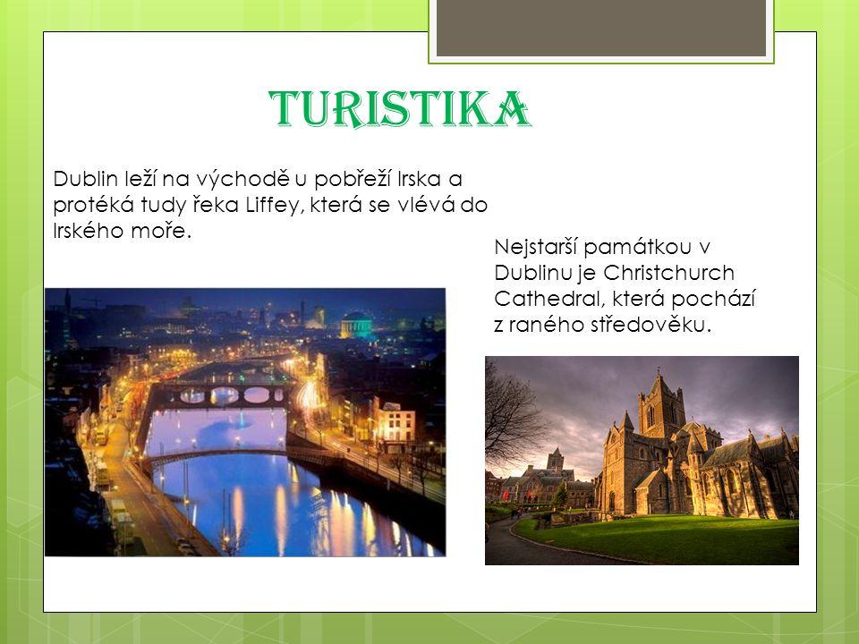 Turistika Dublin leží na východě u pobřeží Irska a protéká tudy řeka Liffey, která se vlévá do Irského moře.