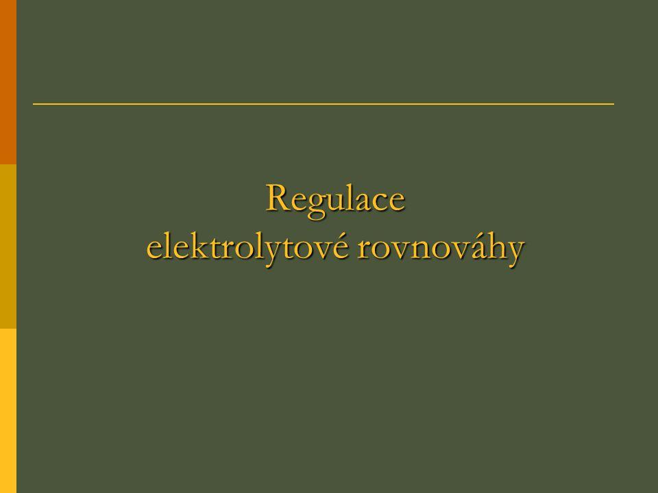 Regulace elektrolytové rovnováhy