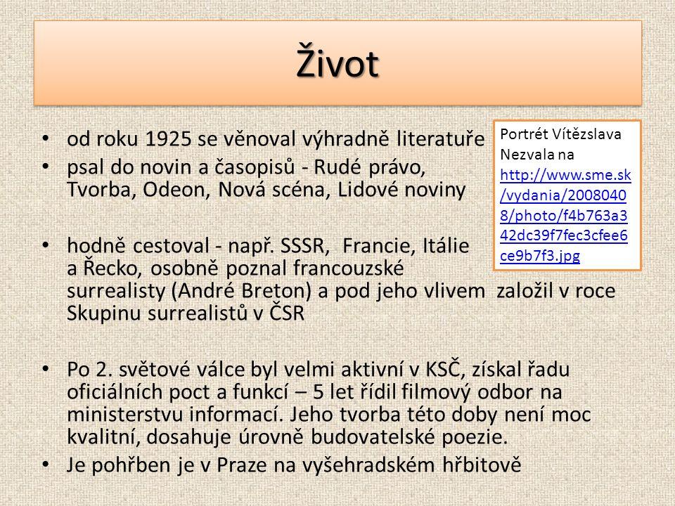 ŽivotŽivot od roku 1925 se věnoval výhradně literatuře psal do novin a časopisů - Rudé právo, Tvorba, Odeon, Nová scéna, Lidové noviny hodně cestoval - např.