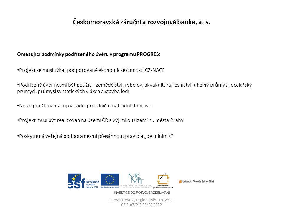 Českomoravská záruční a rozvojová banka, a. s.